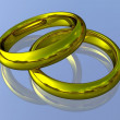 Stock Photo: Realistic Wedding Rings - Gold