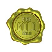 Fine Gold 999.9 - Isolated — Stock Photo