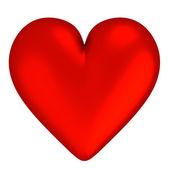 3d 红色的心-隔离 — 图库照片