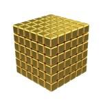 3D Golden Cubes — Stock Photo #28931089