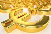 Golden Euro Sign — Stock Photo
