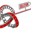 Stock Photo: Different Way With SOLUTION Sign