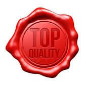 Red Wax Seal : Top Quality — Stock Photo