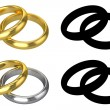Stock Photo: Realistic Wedding Rings - ISOLATED