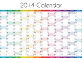 2014 Calendar - EN — Stock Photo