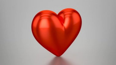 3D Red Heart - Animation (Loopable) — Vídeo de Stock