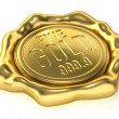 Realistic Gold Seal : Fine Gold 999.9 — Stock Photo