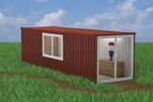 Container Converted into Home — Stock Photo
