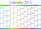 Calendrier 2015 - VERSION FRANCAISE — Foto Stock