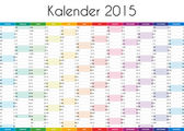 Kalender 2015 - GERMAN VERSION — Stock fotografie