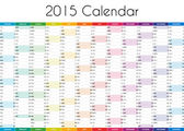 2015 Calendar - ENGLISH VERSION — Stock fotografie