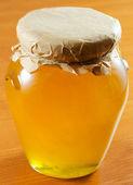 Honey jar — Stock Photo