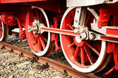 Steam engine wheels — ストック写真