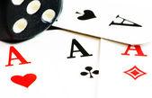 Zar ve oyun kartları — Stok fotoğraf
