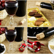 Red wine collage image. — Stock Photo #29443851