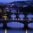 Bridges over the Vltava River — Stock Photo