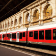 Passenger trains stationed in Budapest Keleti, railway station,Hungary. — Stock Photo #31354721