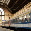 Passenger trains stationed in Budapest Keleti, railway station,Hungary. — Stock Photo