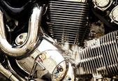 Motorcycle engine. — Stock Photo