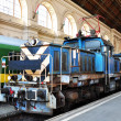 Stock Photo: Electric shunting locomotive.