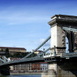 Bridge over Danube river in Budapest,Hungary. — Stock Photo