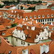 Stock Photo: Prague rooftops.