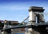 Bridge over Danube river in Budapest,Hungary. — Stock Photo