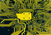 Printed circuit board. — Stock Photo