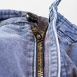 Zipper fabric fastener close up — Stock Photo