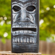 Tiki face lantern — Stock Photo