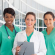 Group of three nurses — Stock Photo
