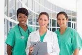 Group of three nurses — Stock Photo