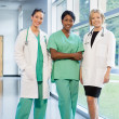 Stock Photo: Group of female doctors and nurses