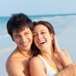 Young Couple on Beach — Foto de Stock