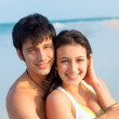 Young Couple on Beach — Foto Stock