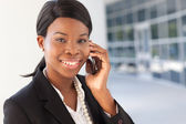 African-American Woman on cell phone — Stock Photo