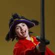 Boy playing pirate — Stock Photo