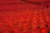 Red Theater seating — Stock Photo