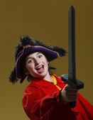Boy playing pirate — Stock Photo