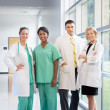 Group of doctors and nurses - Stock Photo