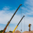Construction Cranes — Foto Stock