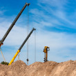 Stock Photo: Construction Cranes