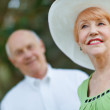 Happy Senior Couple Outdoors — Stock Photo