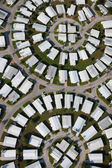 Aerial view of community — Stock Photo