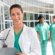 Royalty-Free Stock Photo: Nurse with clipboard