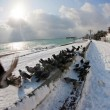 Stock Photo: Winter morning in Yalta