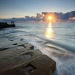 Beautiful sunrise over the sea — Stock Photo