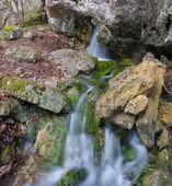 Mountain waterfall in Yalta, Crimea, Ukraine — Stock Photo
