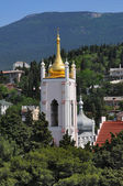 Image of the orthodox cathedral in Yalta, Ukraine — Stock Photo