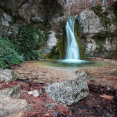 Mountain waterfall in Yalta, Crimea, Ukraine — Stock Photo
